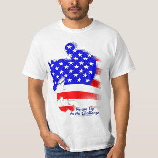 Patriotic Jumping Horse Tee Shirt