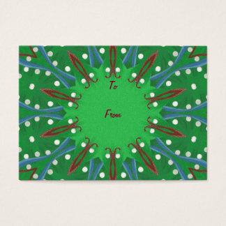 Patriotic Kaleidoscope Christmas Gift Tags