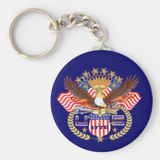 Patriotic Keychain View About Design