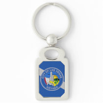 Patriotic keychain with Flag of Las Vegas