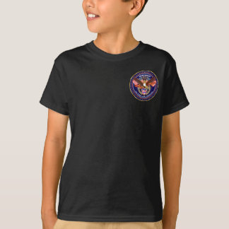 Patriotic Kids Front Back Dark All Styles T-Shirt