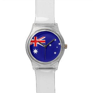 Patriotic kids watch with Flag of Australia