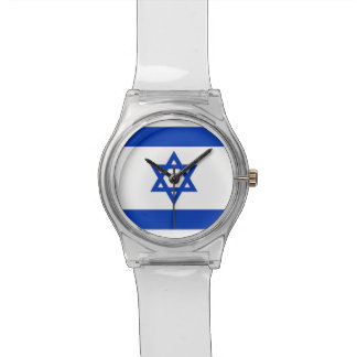 Patriotic kids watch with Flag of Israel Wristwatches