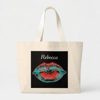 Patriotic Kiss Large Tote Bag