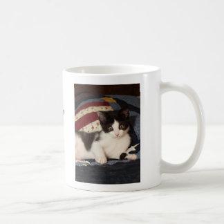 Patriotic Kitten on Quilt Mug Cat