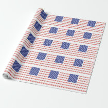 Patriotic Kitty Cat Wrapping Paper