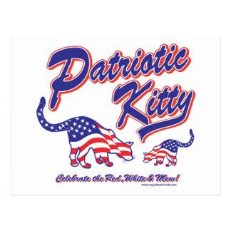 Patriotic Kitty Cats Postcard