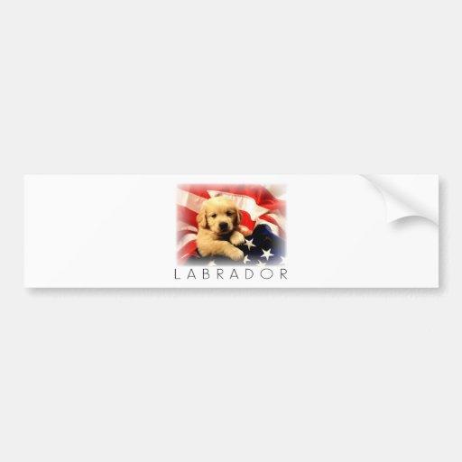 Patriotic Lab Bumper Sticker