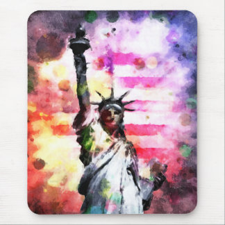 Patriotic Lady of Liberty Mouse Pad