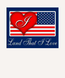 "Patriotic ""Land That I Love (Heart)"" T-shirt"