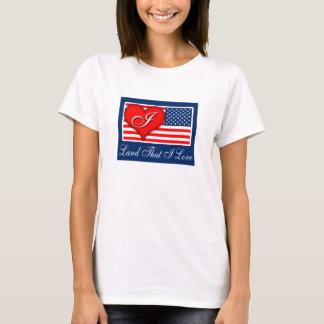 "Patriotic ""Land That I Love (Heart)"" T-shirt"