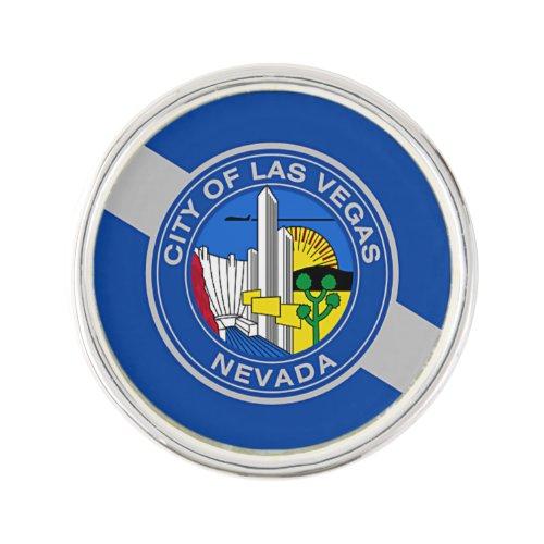 Patriotic lapel pin with Flag of Las Vegas