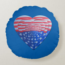 Patriotic Layered Hearts