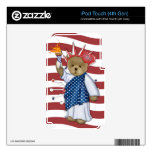 Patriotic Liberty Bear Decals For iPod Touch 4G