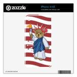 Patriotic Liberty Bear iPhone 4S Decals