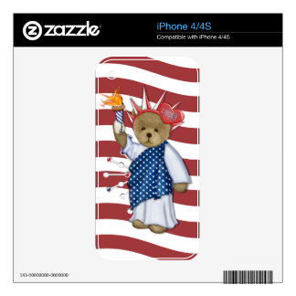 Patriotic Liberty Bear iPhone 4S Decals