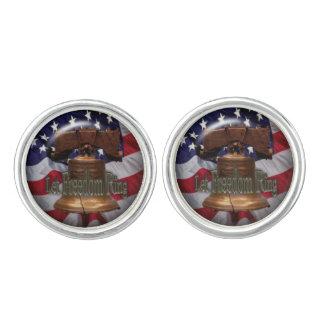 Patriotic Liberty Bell fun cufflinks