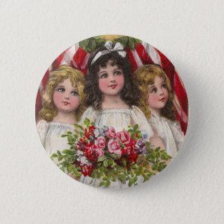 Patriotic Liberty Girls Button