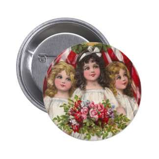 Patriotic Liberty Girls Button