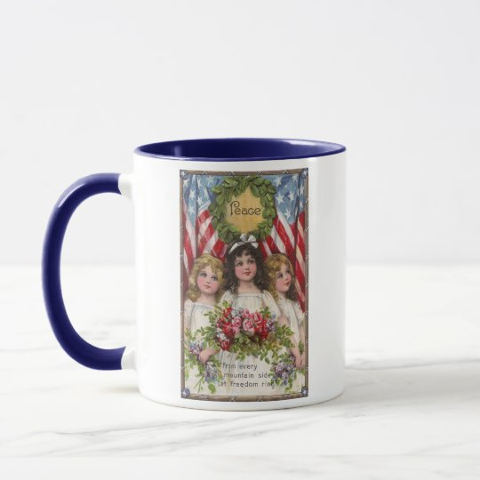 Patriotic Liberty Girls Mug