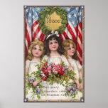Patriotic Liberty Girls Print
