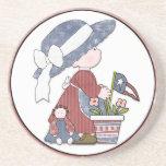 Patriotic Liberty Kid Drink Coaster