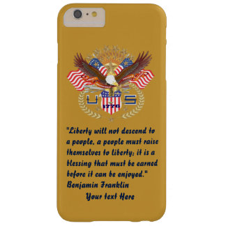 Patriotic Liberty Peace Autumn Gold Barely There iPhone 6 Plus Case