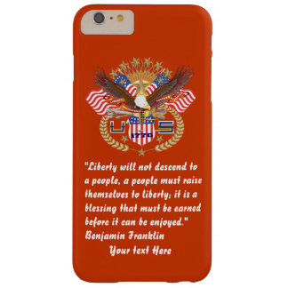 Patriotic Liberty Peace Brick Red Barely There iPhone 6 Plus Case
