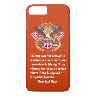 Patriotic Liberty Peace Brick Red iPhone 7 Plus Case