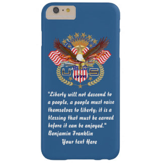 Patriotic Liberty Peace Desert Blue Barely There iPhone 6 Plus Case