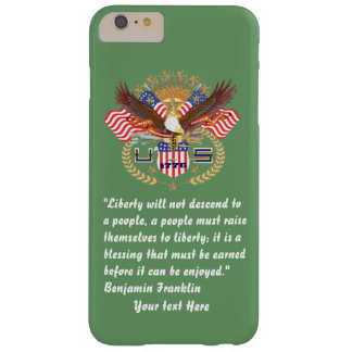 Patriotic Liberty Peace Green Army Barely There iPhone 6 Plus Case
