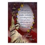 Patriotic Liberty Thank You Card
