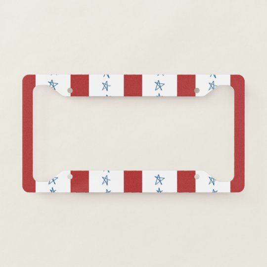 Patriotic License Plate Frame | Zazzle.com
