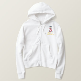 Patriotic Lighthouse USA Embroidered Hoodie