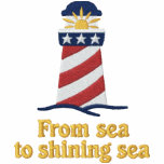Patriotic Lighthouse USA Embroidered Hoodies