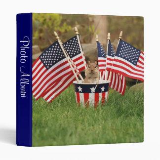 Patriotic little chipmunk photo album 3 ring binder