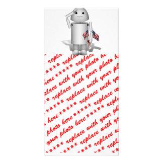 Patriotic Little Robo-x9 Customized Photo Card