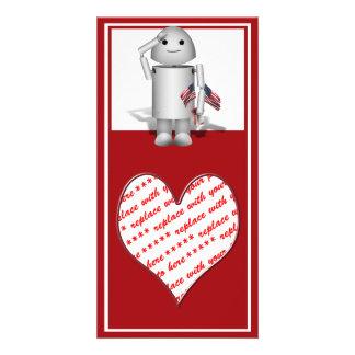 Patriotic Little Robo-x9 Photo Card