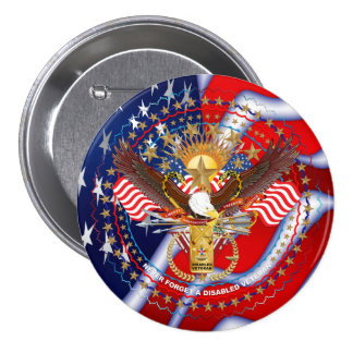 Patriotic Logo USA View About Design below Pinback Button