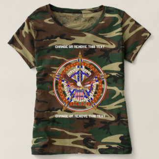 Patriotic Logo USA Women Front & Back T-shirt