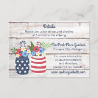 Patriotic Love II Fourth of July Details Insert