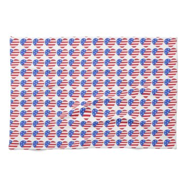 USA Themed Patriotic Love USA July 4th Stars and Stripes Flag Kitchen Towel