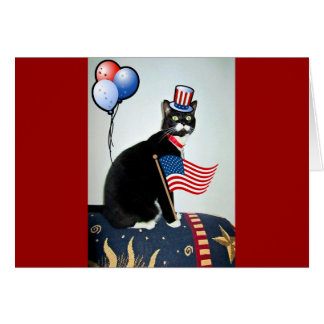 Patriotic Lucy Card
