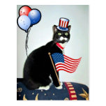 Patriotic Lucy Postcard