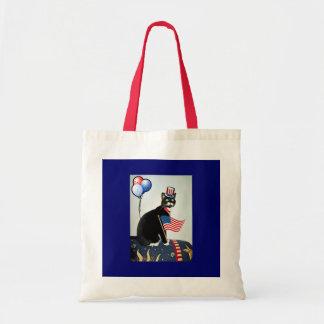 Patriotic Lucy Tote Bag