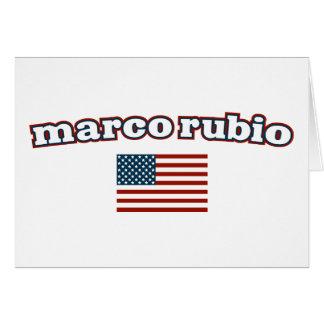 Patriotic Marco Rubio Card