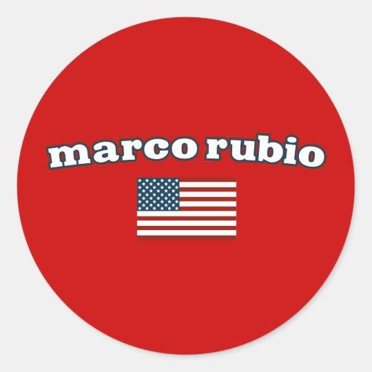 Patriotic Marco Rubio Classic Round Sticker