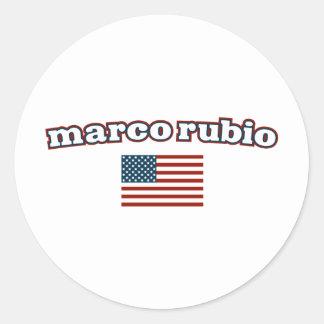 Patriotic Marco Rubio Round Sticker
