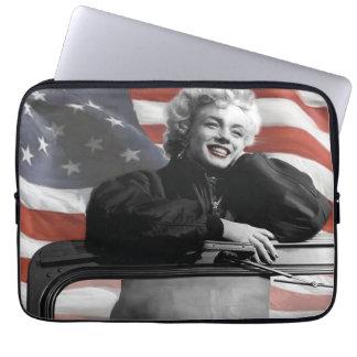 Patriotic Marilyn Laptop Sleeves