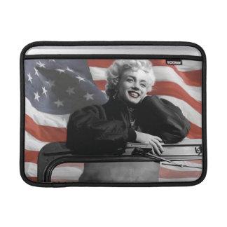 Patriotic Marilyn MacBook Air Sleeves